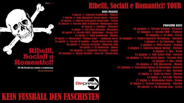 calendario ribelli, sociali e romantici