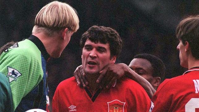 Keane vs Schmeichel